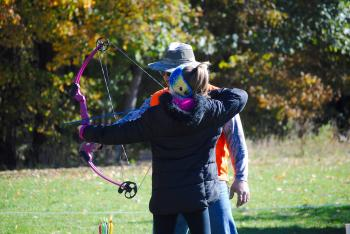 Archery is a very popular activity at the Fall Colors Festival