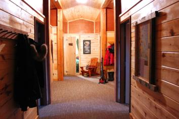 Hallway at Seal River Heritage Lodge