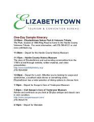 1 Day Itinerary