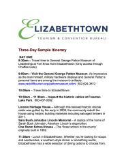 3 Day Itinerary