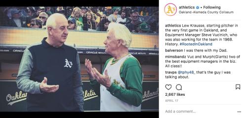 Oakland Athletics Instagram Post