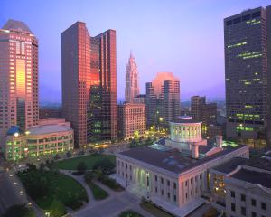 Downtown Columbus Skyline at Capitol Square