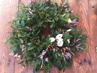 Posh Petals holiday wreath