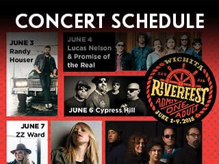 Riverfest Concert Schedule Widget
