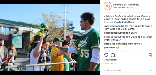 Oakland Athletics Instagram - FanFest