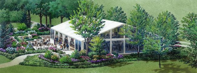 Klehm Arboretum Pavilion Rendering