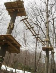 Sky High Aerial Adventure Park Under Construction