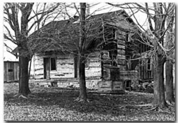 Original Morgan House Log Cabin