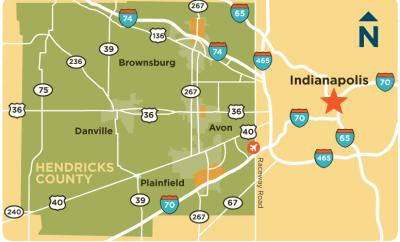Hendricks County Accessibility Map