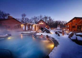 Thermea outdoor spa in Winnipeg