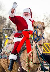 Santa Claus on camel