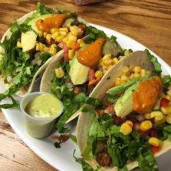 El Arepazo Fish Tacos