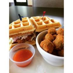 Soul Food Cafe waffle sandwich