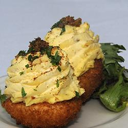 60 Bites - Frank's Restaurant - Deep Fried Deviled Eggs