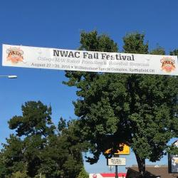 NWAC Fall Festival Banner over Main St