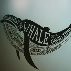Blue Whale Bistro Wall Sign