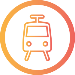 Free Tram travel Icon