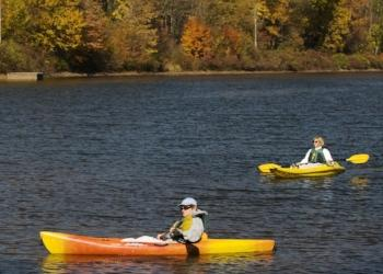 Kayaking on Lake Wawaka part of the East Branch of the Delaware River