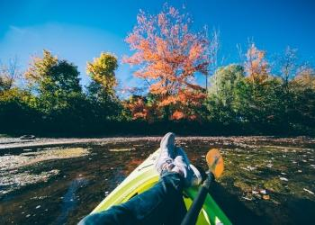 Kayaking in the Catskills - Fall - Photo by Beautiful Destinations
