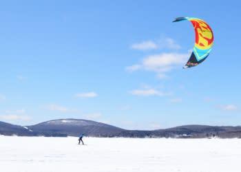 Snowkiting - Photo by Adirondack Coast Visitors Bureau
