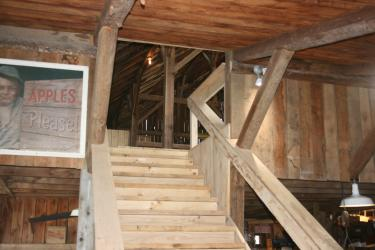 Stairway leading up to the Hayloft at Beasley