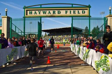 Hayward Field Eugene Marathon by Pure Blue Design
