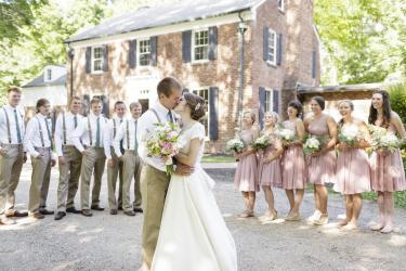 Wedding at The Blanton House in Danville (Credit: Erika Brown Photography)