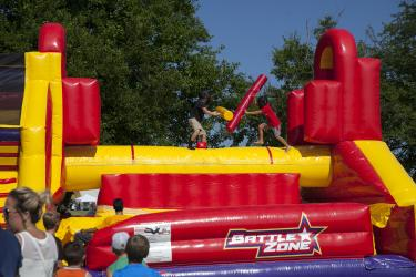 Inflatable at Hendricks County Rib-Fest