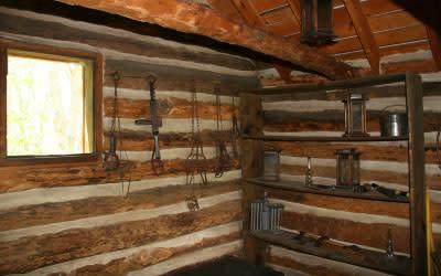Bailly Homestead cabin interior