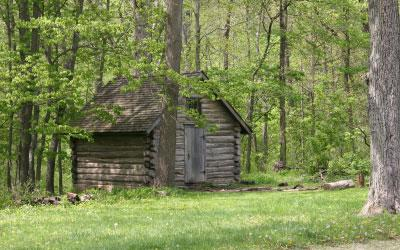Bailly Homestead cabin exterior