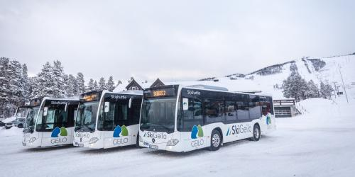 Free of charge ski bus in Geilo