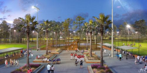 sports complex boardwalk artist rendering