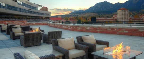 CU Rooftop with Firepit