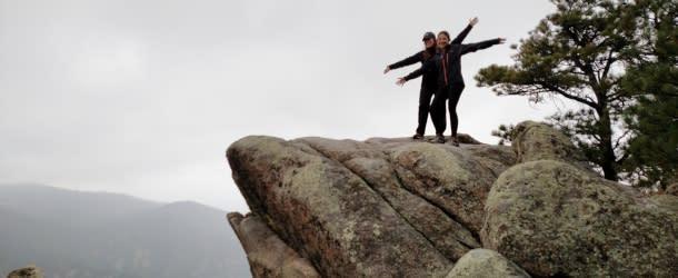 Women on Rocks in Boulder