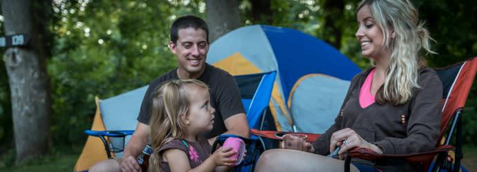 Family camping in Visit Hershey Harrisburg