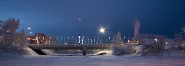 Downtown Fairbanks - Winter Solstice