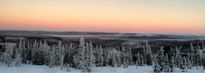 Winter travel in Fairbanks Alaska