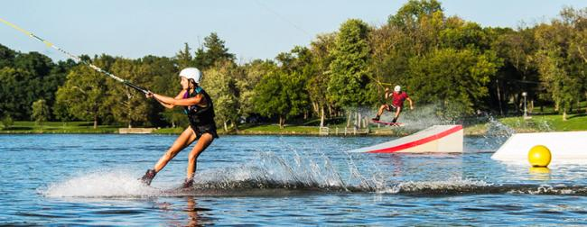 Waterskiing at West Rock Wake Park