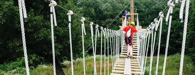 Zip Rockford Rope Bridge