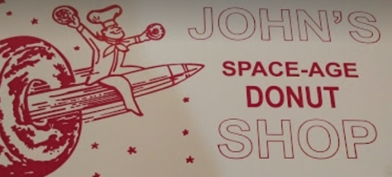 John's Space Age Donuts Logo