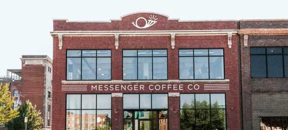 Messenger Cafe Front Of Building Kansas City