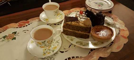 Clock Tower Bakery - Tea and Chocolate Cake