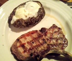pork dinner at Cork