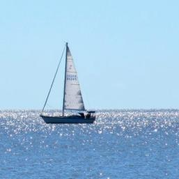 Sailing Lake Winnipeg, Gimli, Manitoba