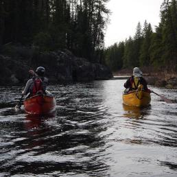 Paddling in Black River, Nopiming, Manitoba