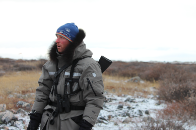 Derek, our polar bear guide at Churchill Wild