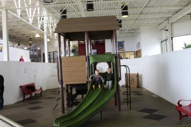 Indoor playgrounds are a great place for visitors with kids