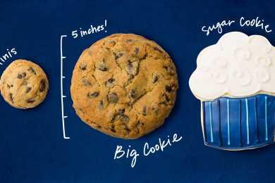 Blue Flour Bakery mini, Big, and custom sugar cookie