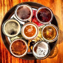 Beer tray in Golden, Colorado