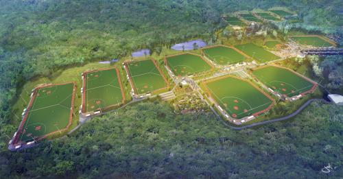 sports complex aerial fields artist rendering